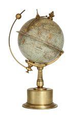 A French brass 'chronosphere' globe clock G. Thomas Paris, circa 1910 by G. Thomas