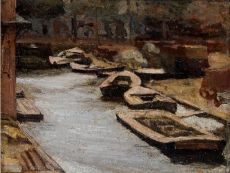 Canal in Amsterdam II by Gerrit Willem Dijsselhof