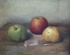 Still life with apples by Henk Bos