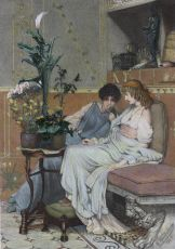 confidences  by Lawrence Alma-Tadema
