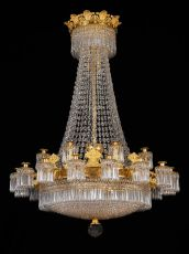 A large Empire 24-light Chandelier attributed to Claude Galle
