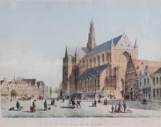 De Groote Markt te Haarlem by Unknown Artist