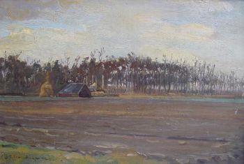 Landscape in Northwest Veluwe by Gerrit Haverkamp