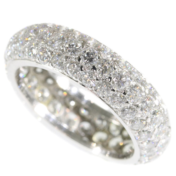 Vintage eternity band with over 5 crts of brilliant cut diamonds (90 stones!) by Unknown Artist