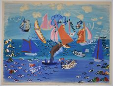 Au Port (Cowes), Marines by Raoul Dufy