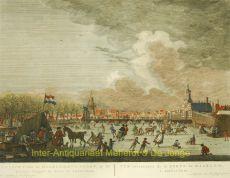 Amsterdam, Haarlemmerpoort, winter scene  by  Fouquet Schouten