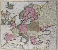 Map of Europe around 1700     by Schenk, Pieter