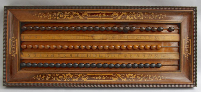 Billiards scoreboard, Charles X, France by Unknown Artist