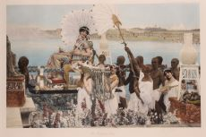 """The finding of Moses"" (original engraving/ photogravure, hand coloured) by Lawrence Alma-Tadema"