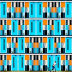 Variations in Orange & Blue by Paul Brouns