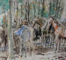 Paardenmarkt Zuidlaren by Johan Dijkstra