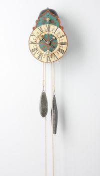 A South German polychrome wall clock, circa 1710 by Unknown Artist