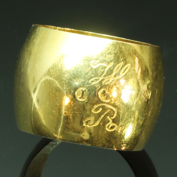 Rare antique wedding band from the Southern Netherlands - Zeeland by Unknown Artist