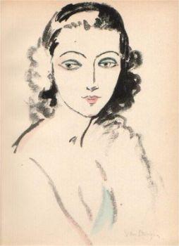 Portrait of a woman by Kees van Dongen