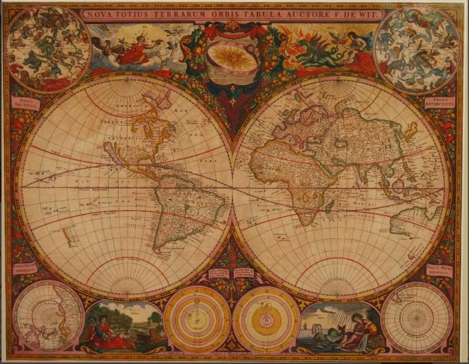 World Map - Frederick de Wit by Frederick de Wit