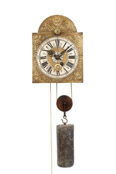 A Swiss 'Kuhschwanz' alarm wall timepiece, circa 1720 by Unknown Artist