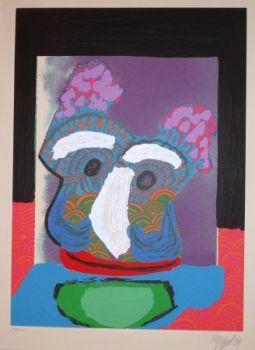 Purple Owl by Karel Appel