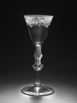Engraved glass  by Unknown Artist