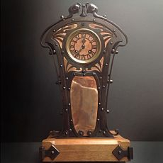 Art nouveau table clock by Unknown Artist