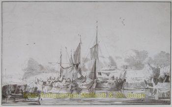 Ploos van Amstel  Riviergezicht by Ploos van Amstel, Cornelis