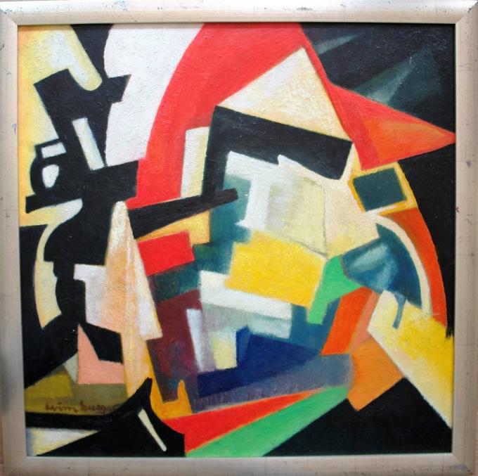 Abstracte compositie III by Wim Burger