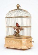 A French gilt 'singing bird automaton' birdcage, Bontems, circa 1880 by Bontems