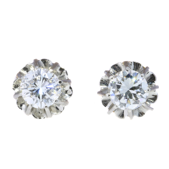 Vintage Art Deco diamond earstuds by Unknown