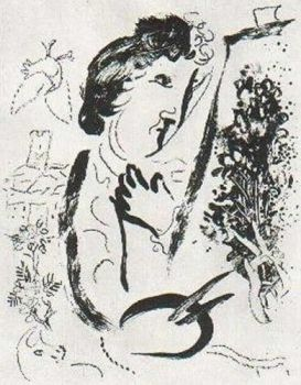 Devant le Tableau by Marc Chagall