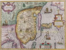 ONE OF THE MOST SOUGHT AFTER MAPS OF CHINA by Hondius, Jodocus