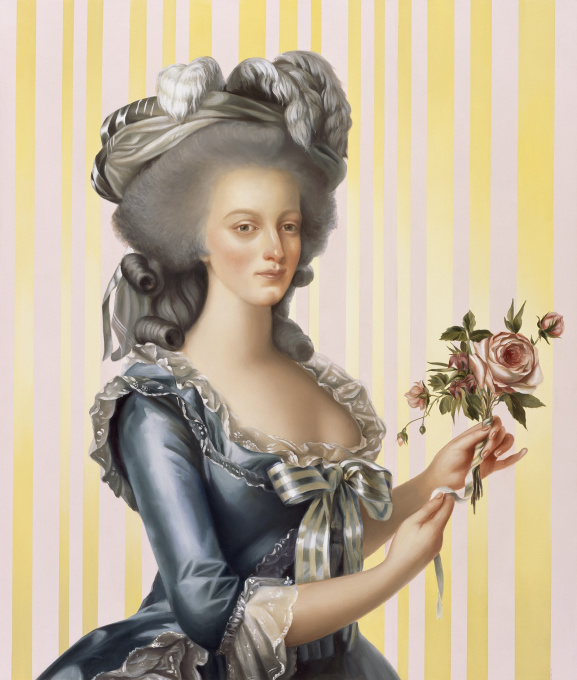 Woman with Rose by Mary Alacoque Waters
