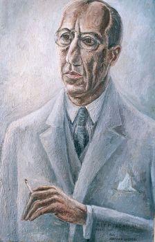 Portrait of Piet Mondriaan by Adriaan Lubbers