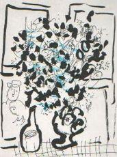 Le Bouquet Noir et Bleu by Marc Chagall