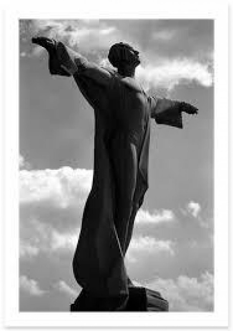 Bronze head - Titanic monument by Gertrude Vanderbilt Whitney