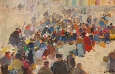 View at Veurne Market by Lucien Frank