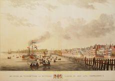 Het vertrek der Veldschutterij van Rotterdam, waaronder een groot aantal vrijwilligers, in het jaar 1830 by W.J. van Oosterzee