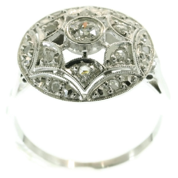 Sparkling vintage Art Deco diamond engagement ring by Unknown