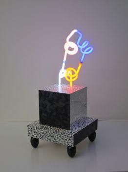 3d-Neon sculpture I by Jozef van der Horst