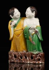 Biscuit Twin Figure Group, China Kangxi