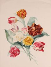 Bouquet of tulips  by  Johanna Helena Buyskes