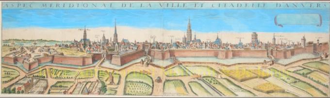 Aspec meridonal de la Ville et Citadelle d'Anvers by Hugues Picart