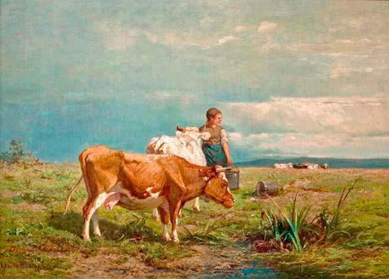 Milking Time by Gerard Bilders
