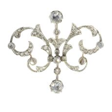 Victorian diamond double purpose jewel can be worn as pendant or brooch by Unknown Artist