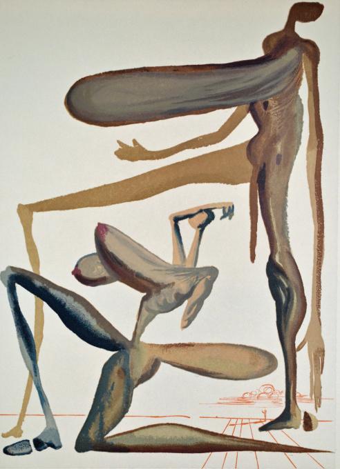 Divina commedia purgatorio 22 by Salvador Dali