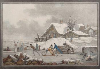 Winter  by  Philibert Louis Debucourt