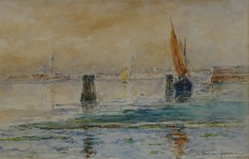 View on Venice by Carel Nicolaas Storm van 's Gravesande