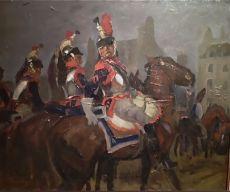 French Cuirassiers by George Hendrik Breitner
