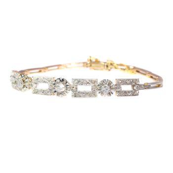 Vintage Art Deco diamond bracelet by Unknown Artist