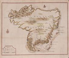 Kaart van het Eyland Mauritius  map of the island Mauritius by Valentyn, Francois (1666-1727)