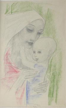 Maria with Child by Willem van Konijnenburg