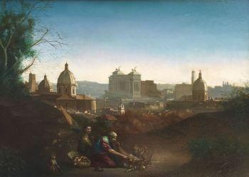 Panorama di Roma con Beduini by Giovanni Tommasi Ferroni